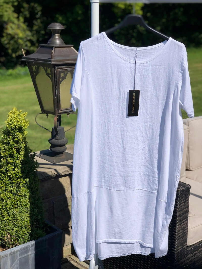Cocoon Tunic Dress White