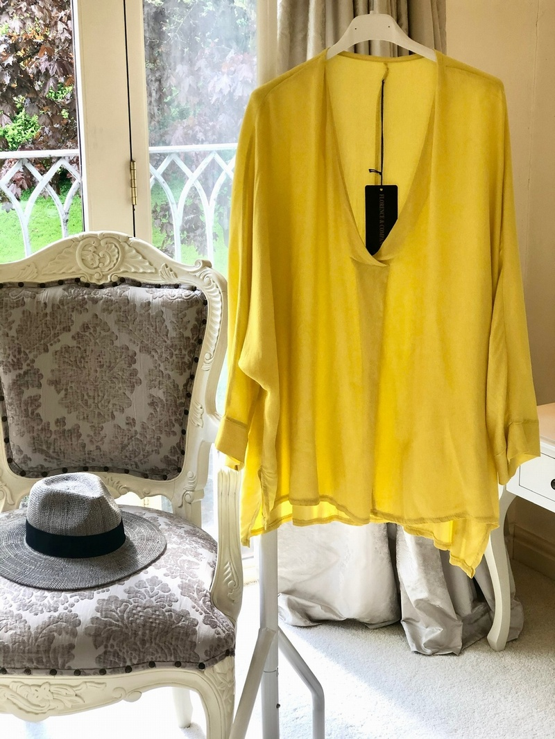 Deep V Neck  Citrus Yellow