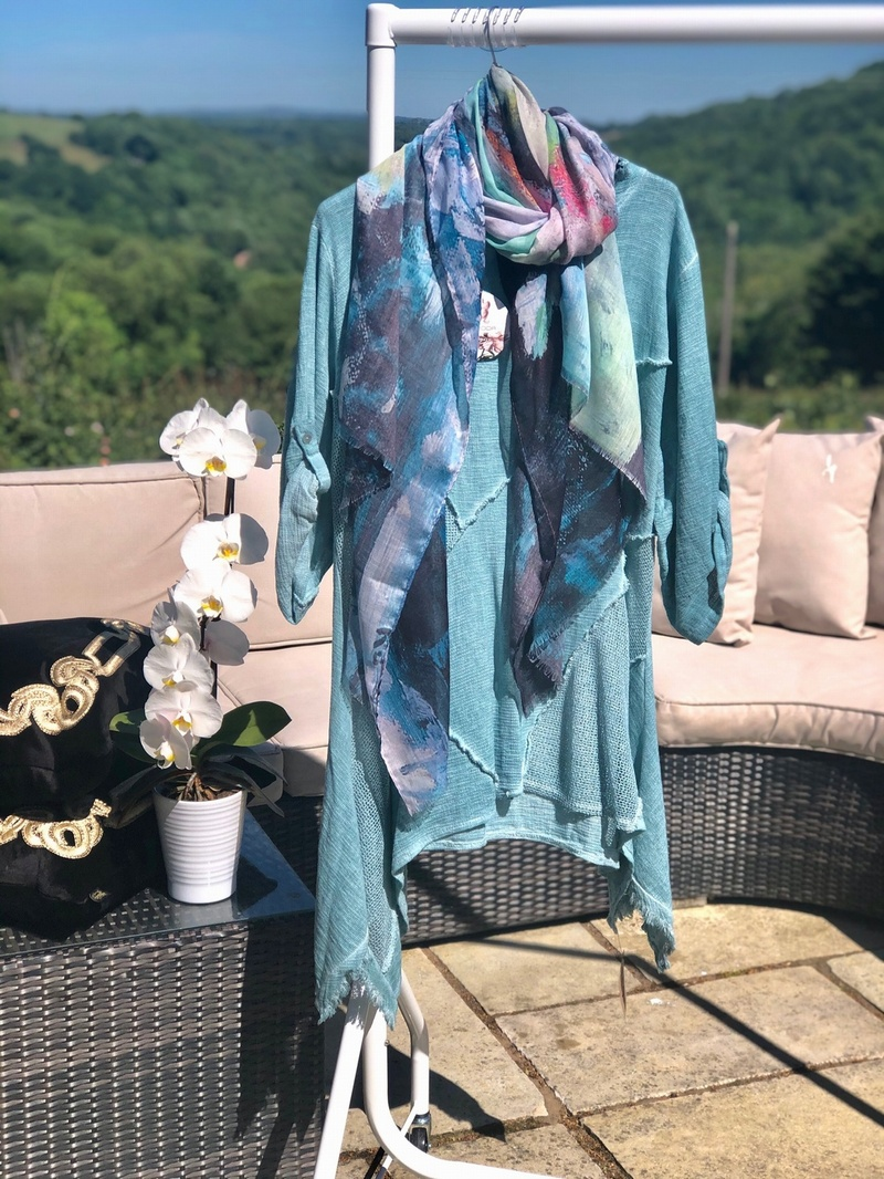 Tea Bag Linen Tunic Vintage Jade