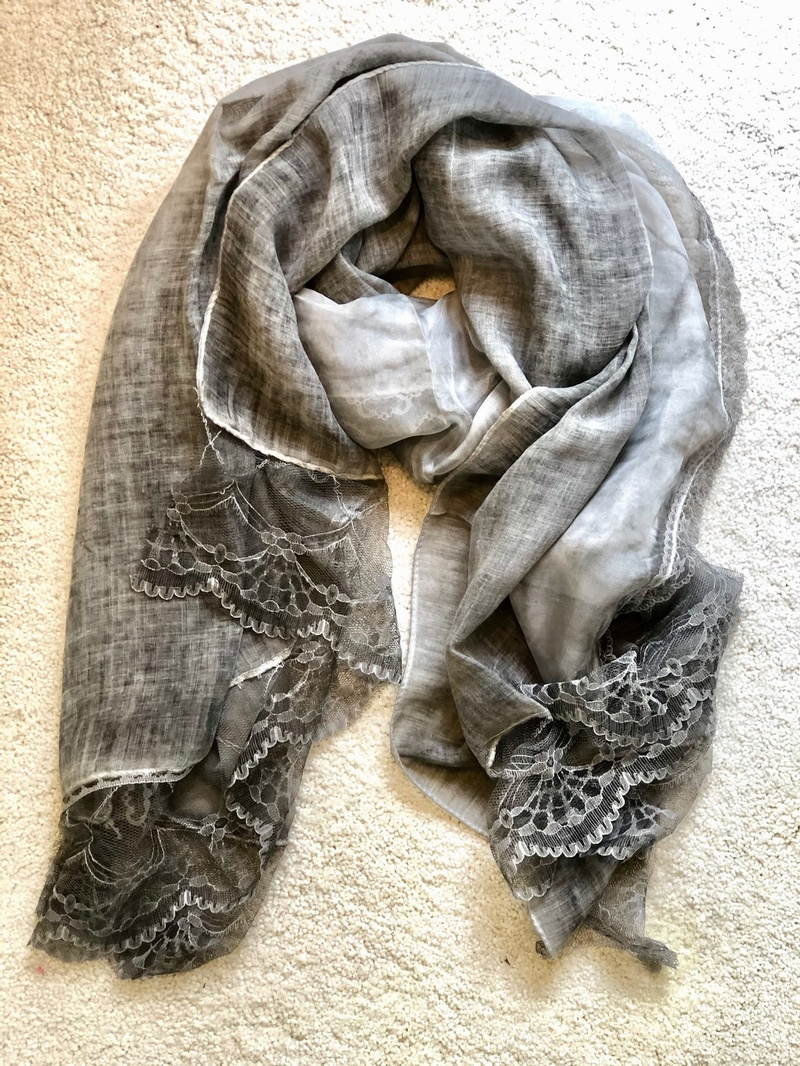 Beautiful Decadent Scarf Vintage Grey