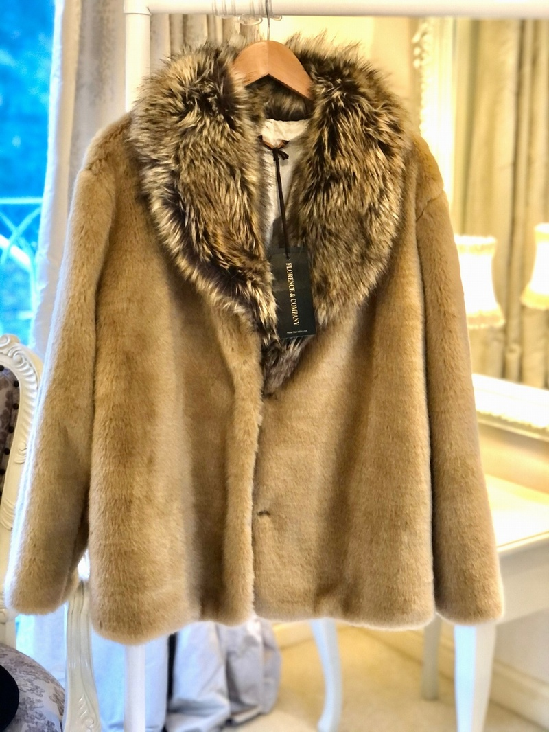 Super Soft Faux Fur Jacket Camel