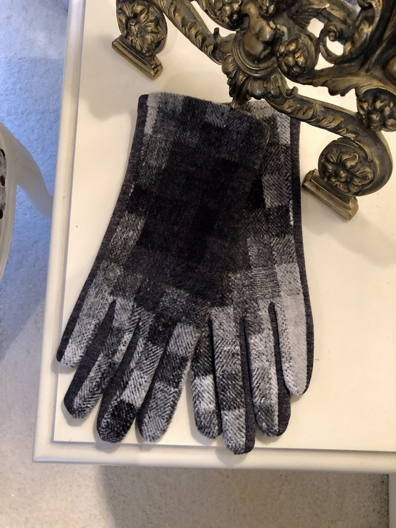 Spandex Gloves Patchwork Grey