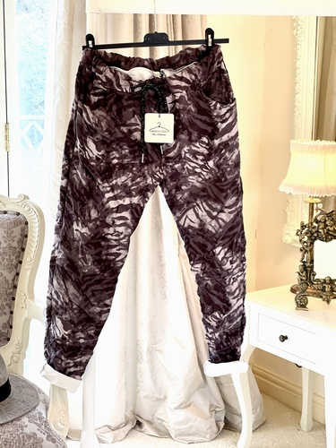 New season super comfort  4 way stretch Magic trouser Dark Zebra