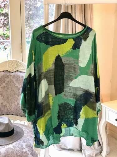 Oversized 2 Pocket Tunic Green