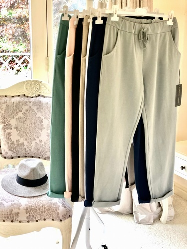 Super Soft Jersey  Joggers White