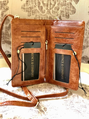 Cross Over Body  Phone Purse  Brown