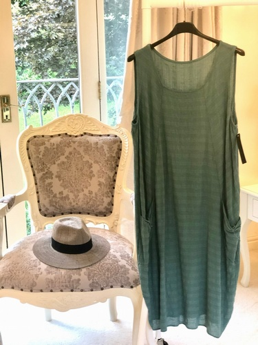 Cotton Dress Dark Jade